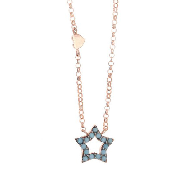 Gregio Astarte Blue Star Necklace