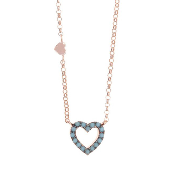 Gregio Astarte Blue Heart Necklace