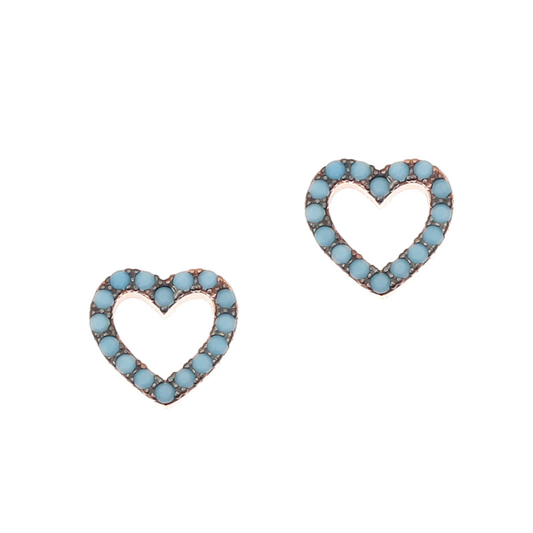 Gregio Astarte Blue Heart Earrings