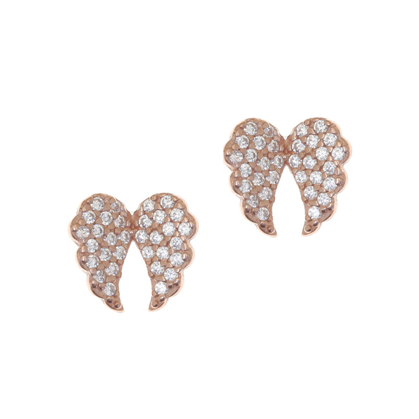 Gregio Iris White Angel Wings Earrings