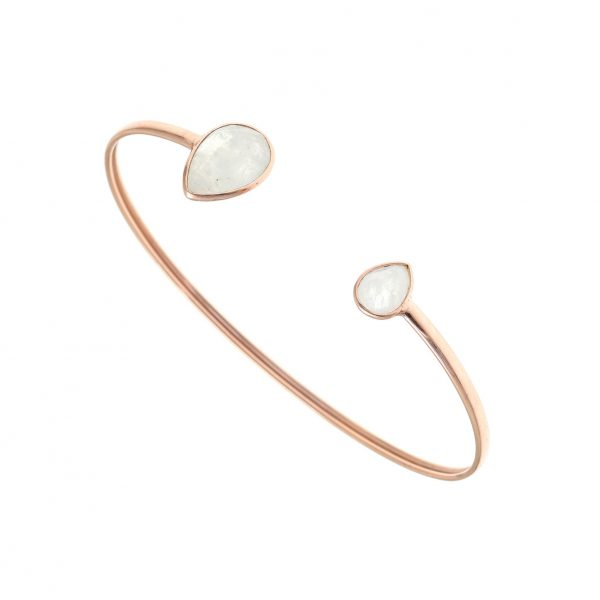 Gregio Petra Bangle with Teardrop Moonstone Precious Stones
