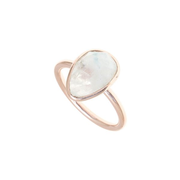 Gregio Petra Ring with Teardrop Moonstone Precious Stone