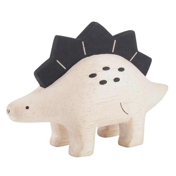 T-lab Dinosaur Stegosaurus Handcarved Wooden Ornament