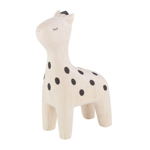 T-lab Giraffe Handcarved Wooden Ornament