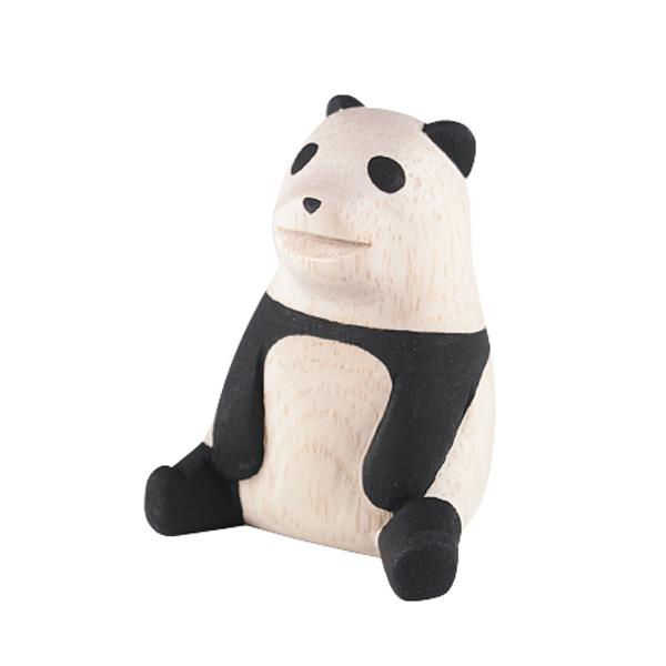 T-lab Panda Handcarved Wooden Ornament