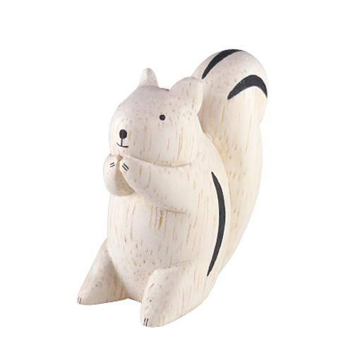 T-lab Squirrel Handcarved Wooden Ornament