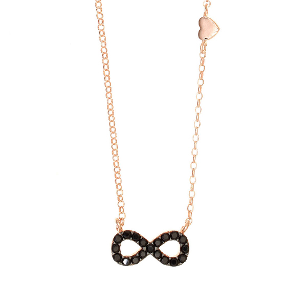 Gregio Astarte Black Infinity Necklace