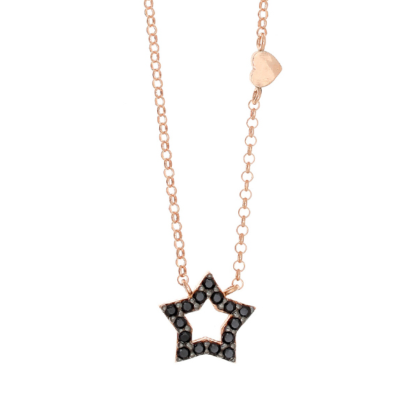 Gregio Astarte Black Star Necklace