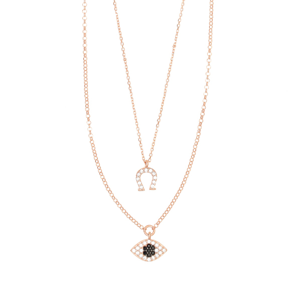 Gregio Sirens 2-in-1 Necklace with Evil Eye