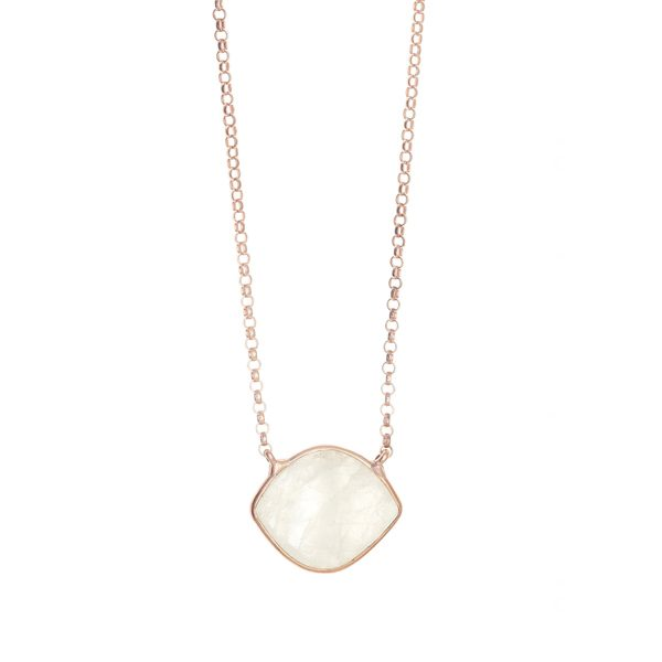 Gregio Petra Necklace with Moonstone Eye Pendant
