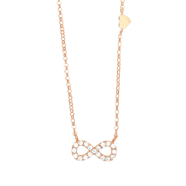 Gregio Astarte White Infinity Necklace