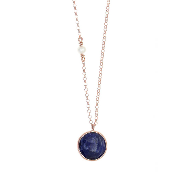 Gregio Petra Necklace with Sapphire Pendant