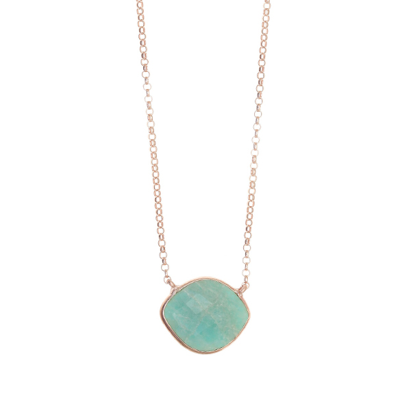 Gregio Petra Necklace with Amazonite Eye Pendant