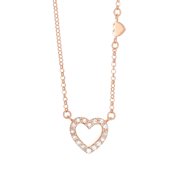 Gregio Astarte White Heart Necklace