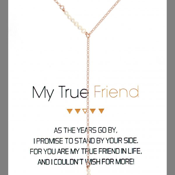 Gregio Wishes True Friend Necklace