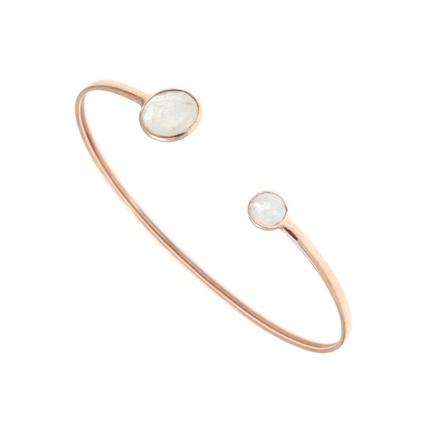Gregio Petra Bangle with Round Moonstone
