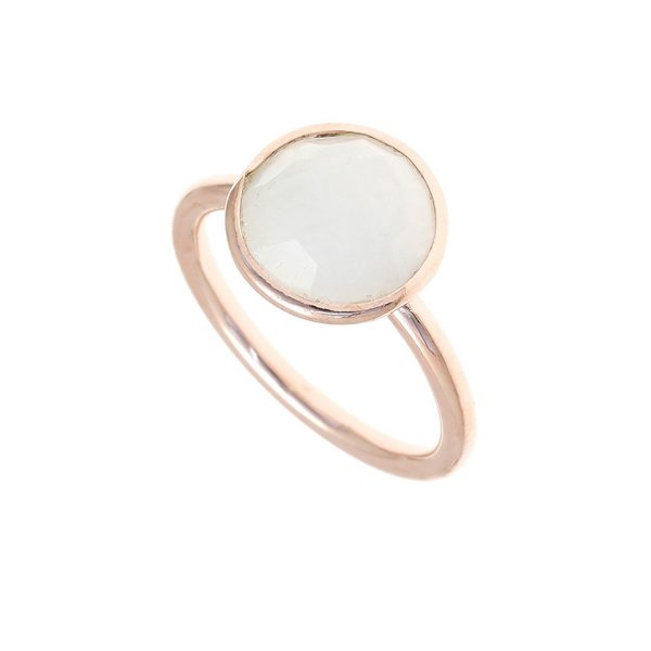 Gregio Petra Ring with Round Moonstone