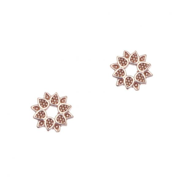 Gregio Sirens Rose Gold Flower Earrings