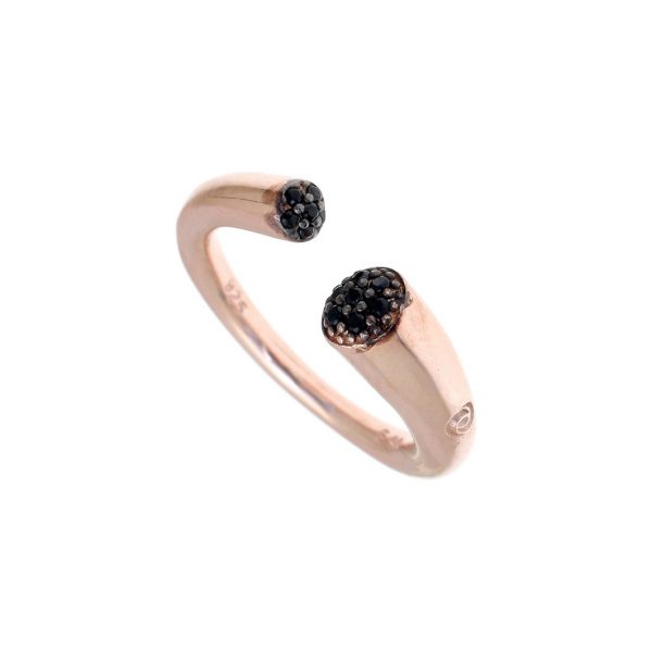 Gregio Abyss Rose Gold Ring