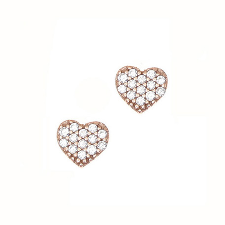 Gregio Sirens Rose Gold Heart Earrings