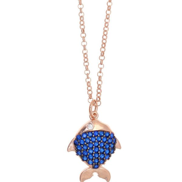 Gregio Pelagos Blue Fish Necklace