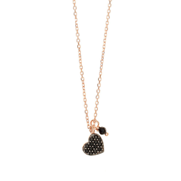 Gregio Sirens Black Heart Necklace