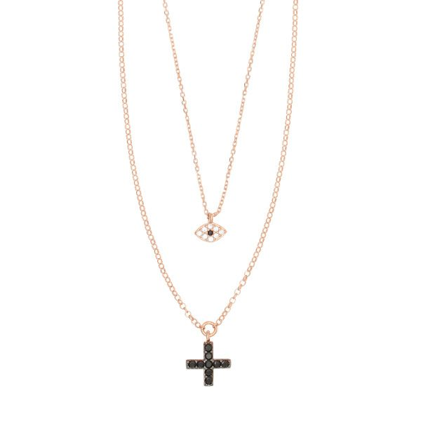 Gregio Sirens Evil Eye and Cross Necklace