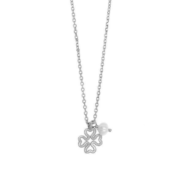 Gregio Sirens Silver Good Luck Necklace