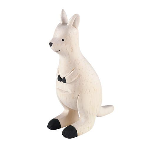 T-lab Kangaroo Handcarved Wooden Ornament