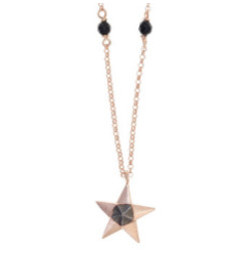 Gregio Origami Rose Gold Star Necklace