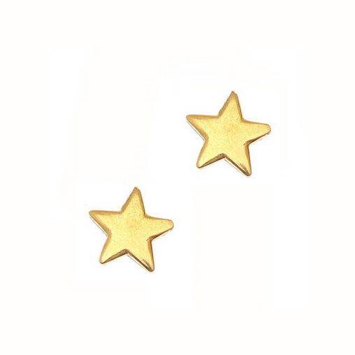 Gregio Yellow Gold Star Earrings