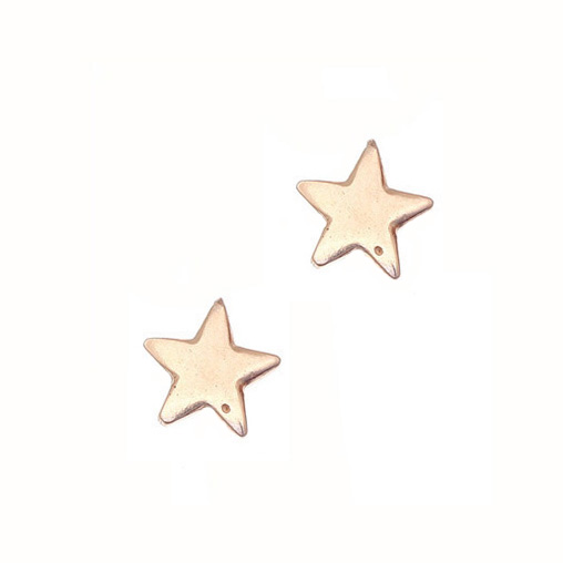Gregio Rose Gold Star Earrings