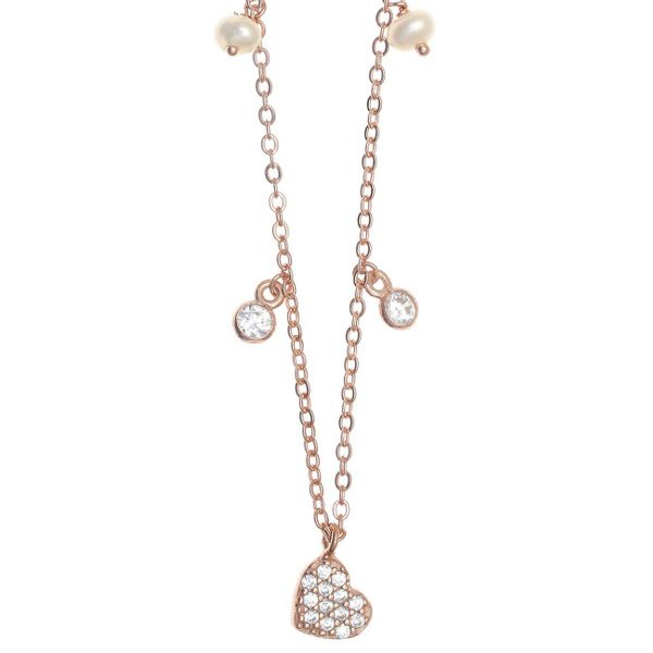 Gregio Necklace with Multi-charms & Heart