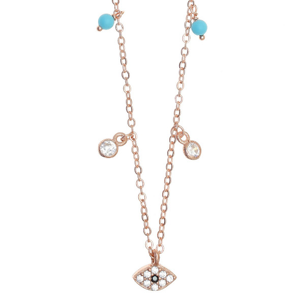 Gregio Necklace with Multi-charms & Evil Eye