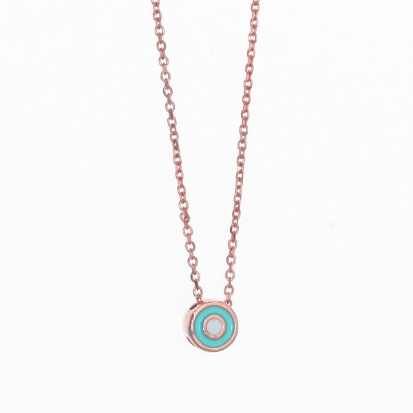 Gregio Necklace with Turquoise Evil Eye