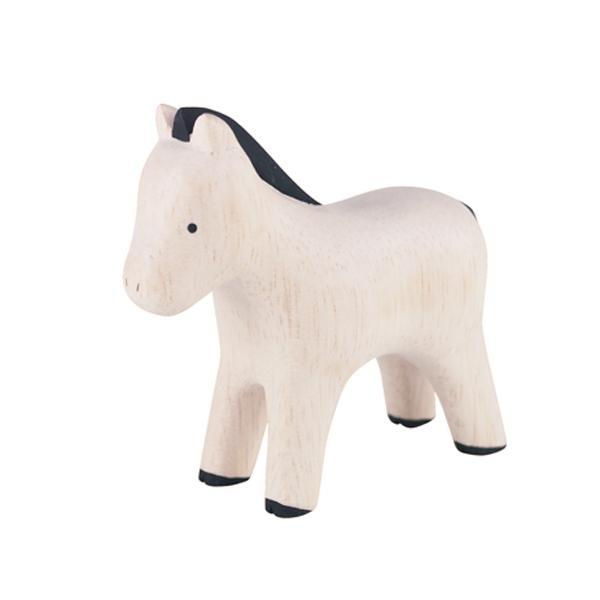 T-lab Horse Handcarved Wooden Ornament