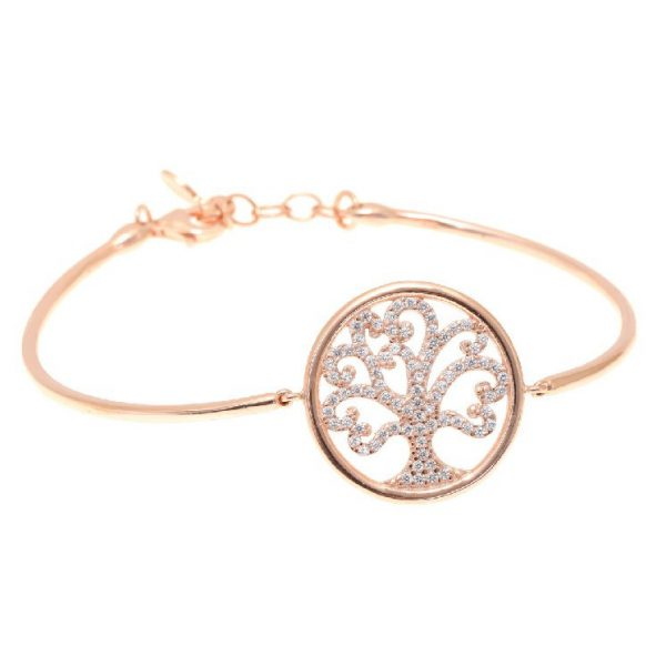 Gregio Zoe Rose Gold Tree of Life Bracelet