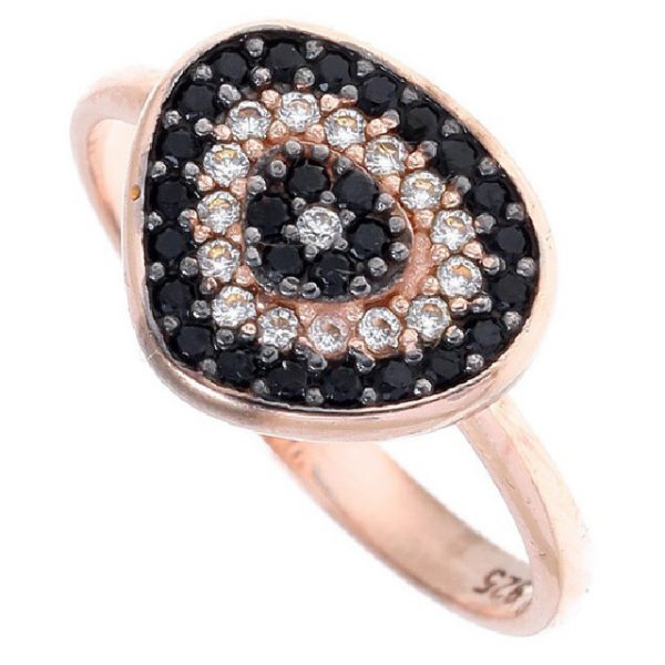 Gregio Irida Rose Gold Evil Eye Ring