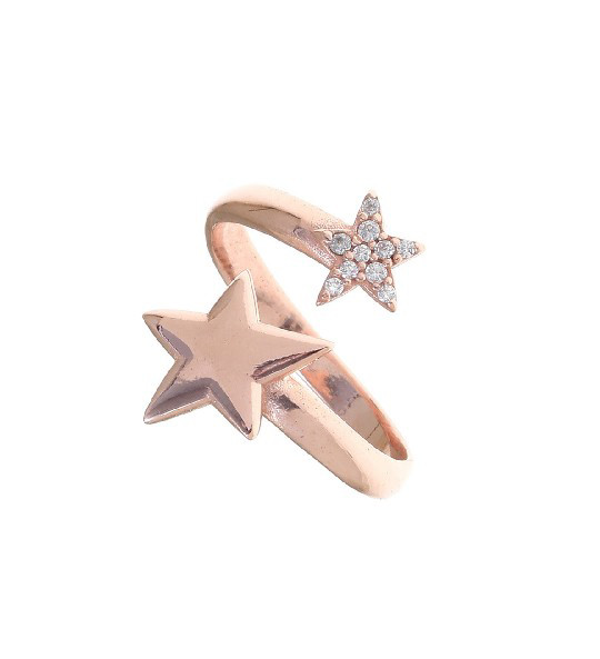 Gregio Astro White Star Wrap Ring