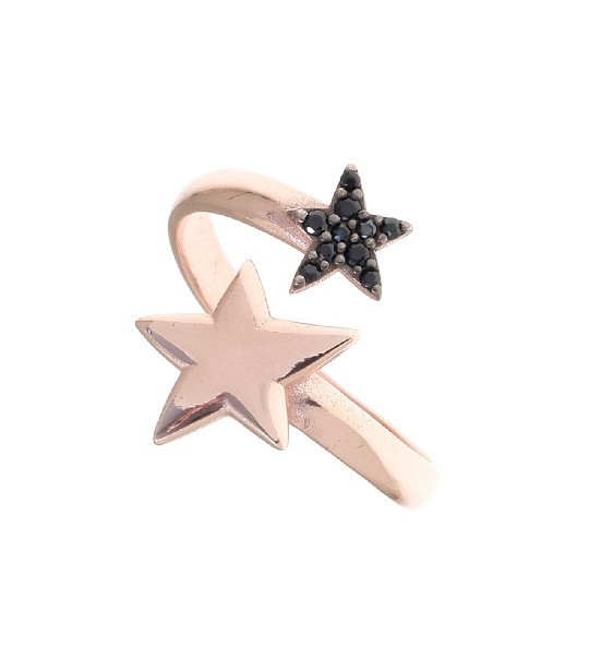 Gregio Astro Black Star Wrap Ring