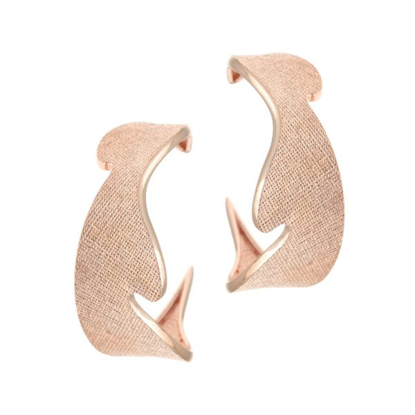 Gregio Kyma Rose Gold Waves Earrings