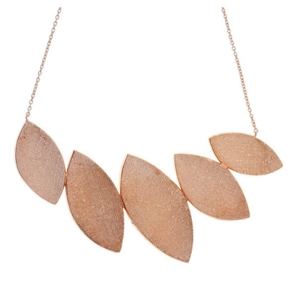 Gregio Kyma Rose Gold Large Statement Necklace