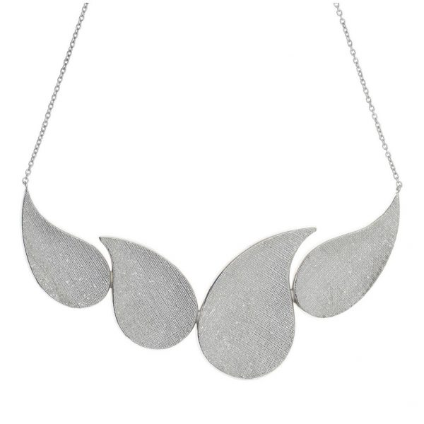 Gregio Kyma Large Silver Statement Necklace