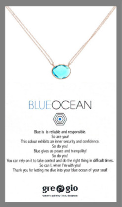 Gregio Wishes Blue Ocean Necklace