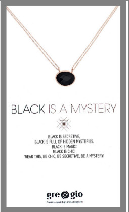 Gregio Wishes Black is a Mystery Necklace