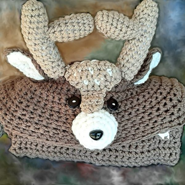 Babydear Woodland Deer Hooded Blanket