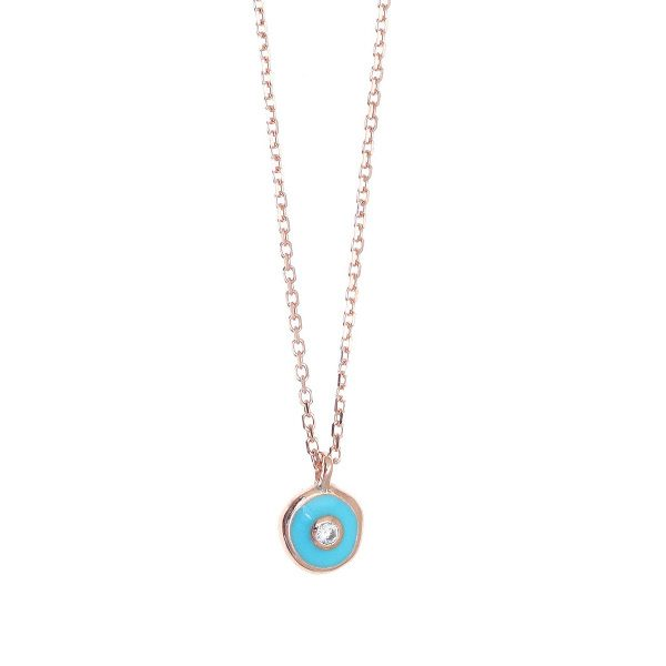 Gregio Sirens Evil Eye Necklace in Turquoise