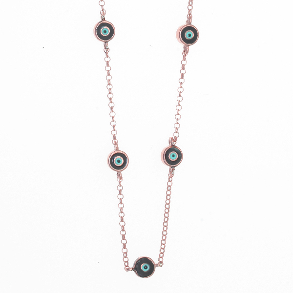 Gregio Black Multi Evil Eye Necklace